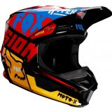 2019 Fox V1 CZAR Motocross Helmet BLACK YELLOW